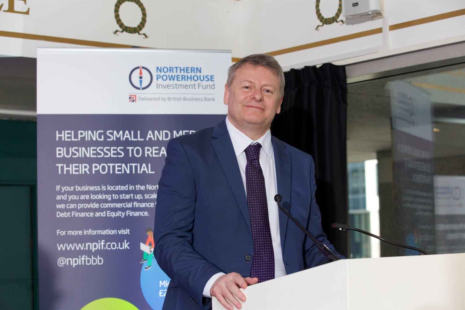 Grant Peggie, director at British Business Bank, at the launch of the Northern Powerhouse