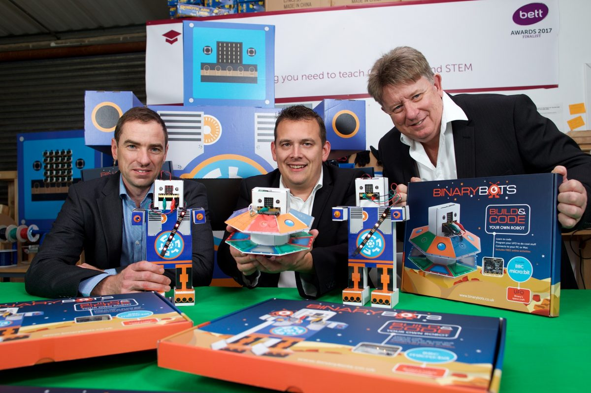 Inventor receives £500k backing for toy robots that teach kids to code
