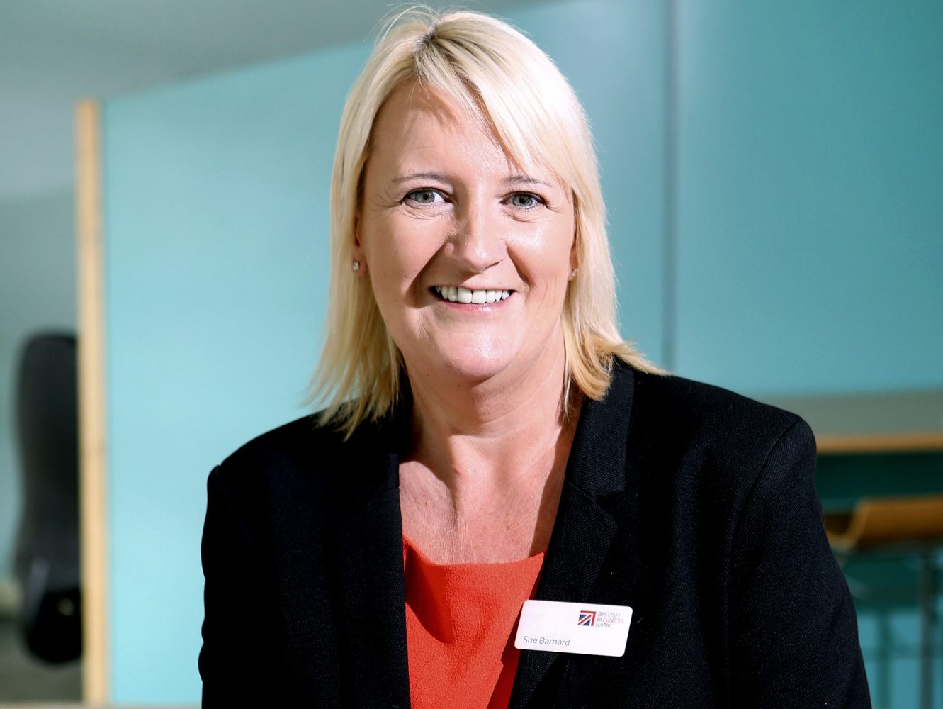 Headshot of Sue Barnard, the UKN Senior Manager at the British Business Bank